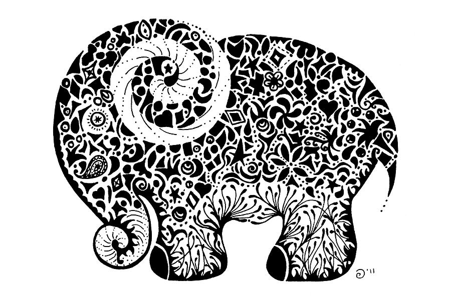 Cute Henna Wallpapers Elephant Doodle Drawing By Jacqueline Eden