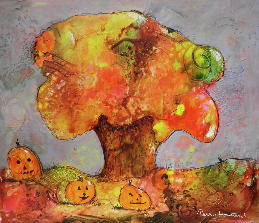 Fall Fun Painting by Terry Honstead