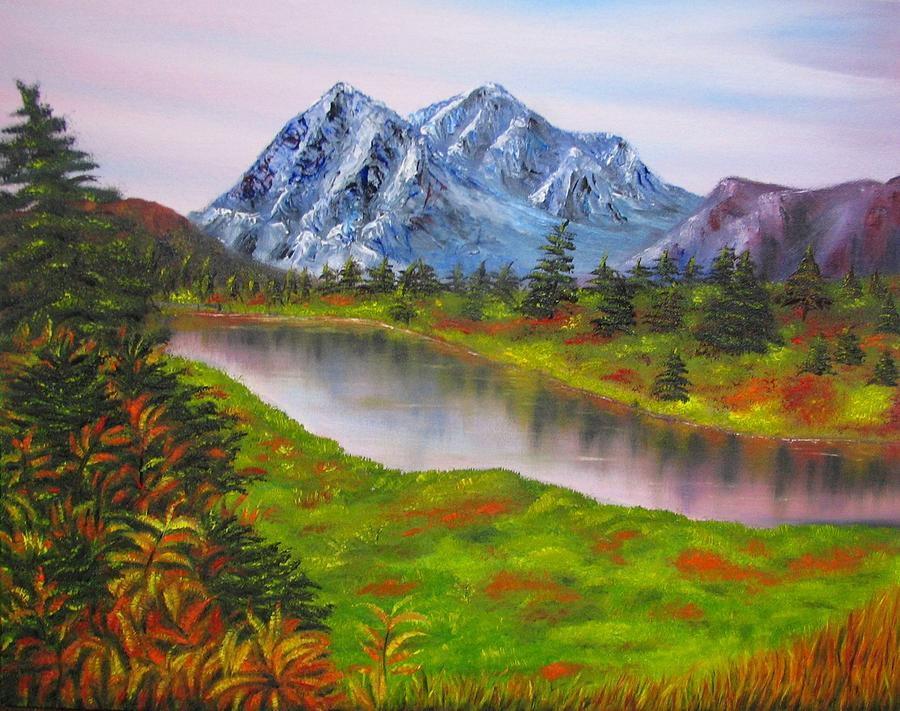 Windows Fall Wallpaper Fall In Mountains Landscape Oil Painting Painting By
