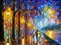 Family By The Lake - Palette Knife Oil Painting On Canvas ...