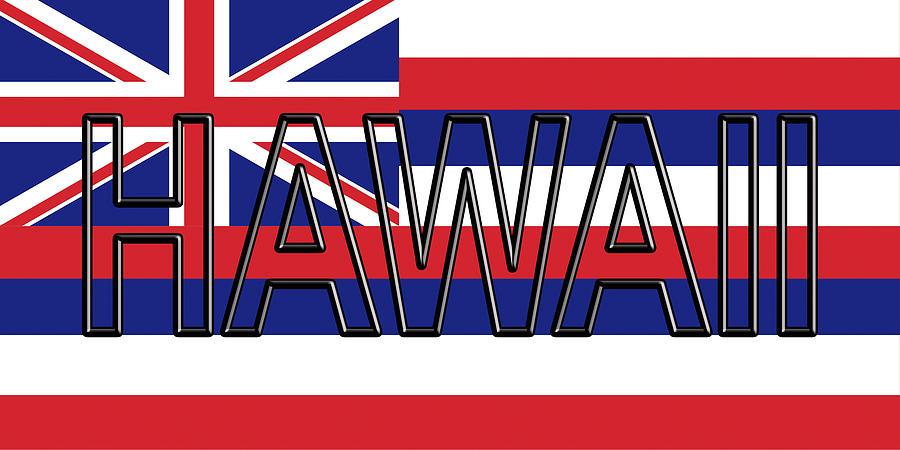 Flag Of Hawaii Word Digital Art by Roy Pedersen - word flag