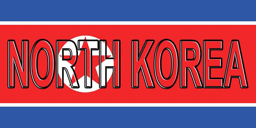 Flag Of North Korea Word Digital Art by Roy Pedersen - word flag