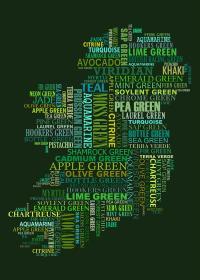Forty Shades Of Green Dark Bg Digital Art by Stefan Birch