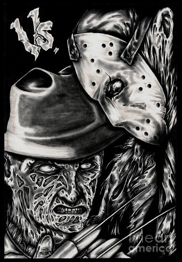 Jason Voorhees Mask Wallpaper Iphone Freddy Vs Jason Painting By N Emesis