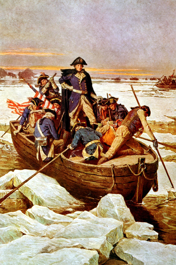 General Washington Crossing The Delaware River Painting by War Is