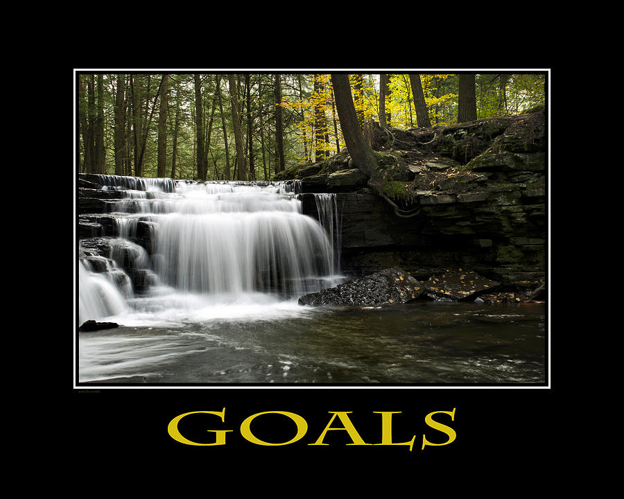 Goals Inspirational Motivational Poster Art Photograph by Christina