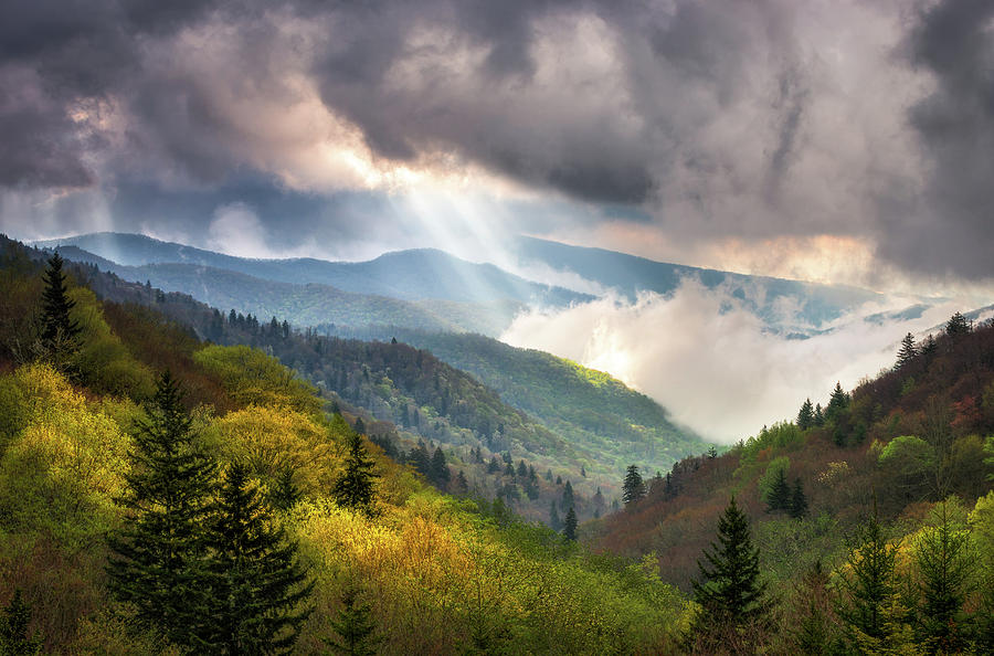 Gatlinburg In The Fall Wallpaper Great Smoky Mountains National Park Scenic Landscape