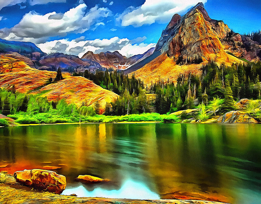 Free Cute Fall Wallpapers Green Mountain Bliss Landscape Painting Painting By Andres