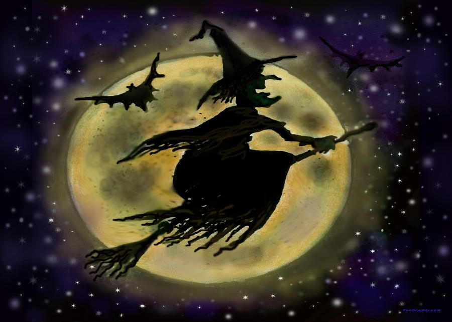 Halloween Witch Digital Art By Kevin Middleton
