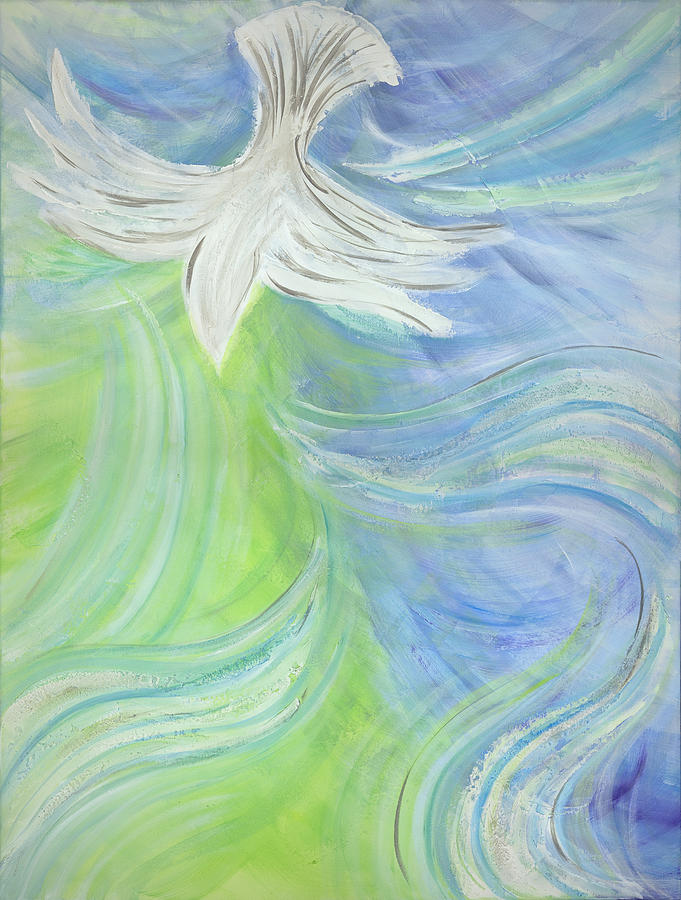 Baby Travel System Sale Holy Spirit Outpouring Painting By Deborah Brown Maher