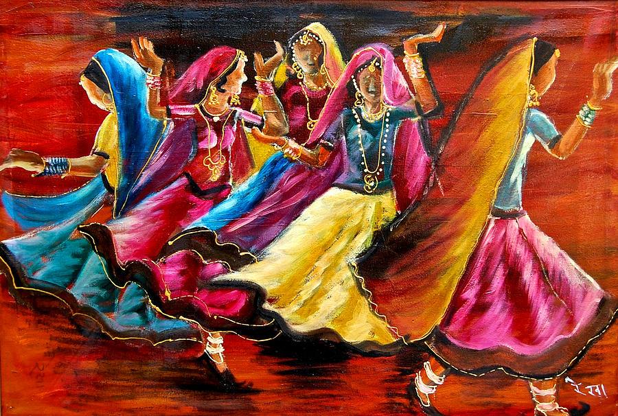 Lord Ganesha Animated Wallpapers Indian Folk Dance Painting By Rekha Rai