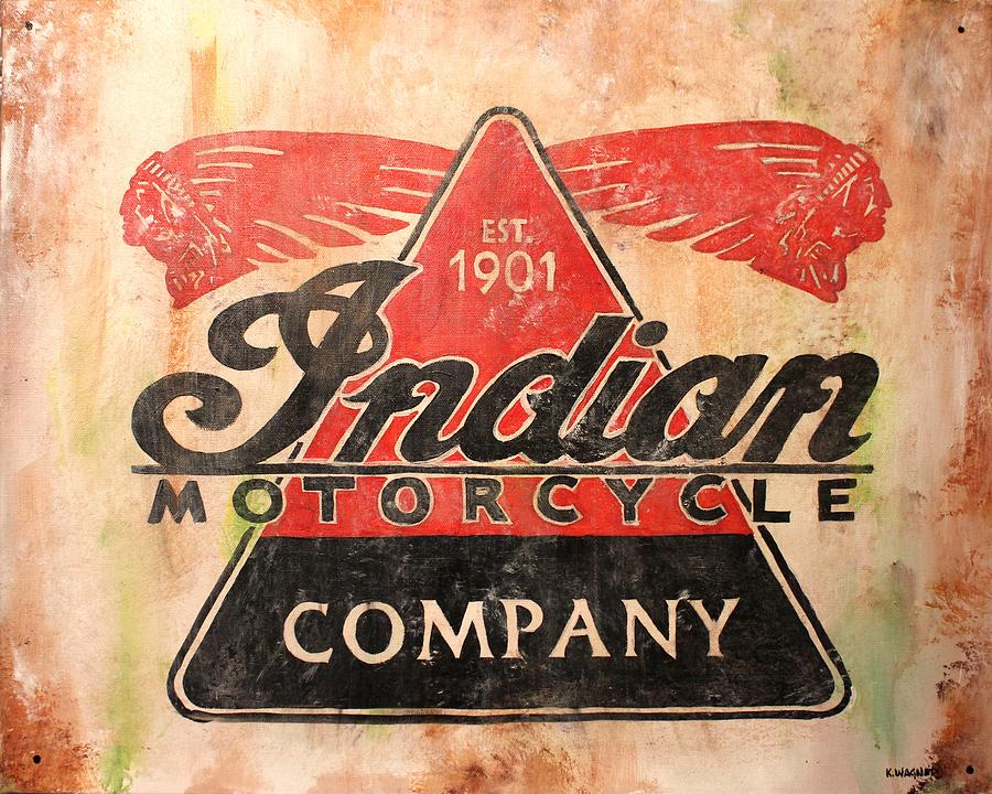 Cafe Racer Wallpaper Iphone Indian Motorcycles Sign Painting By Karl Wagner