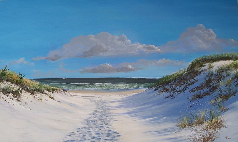 Mermaid Wallpaper Iphone Island Beach Dune Walk Painting By Ken Ahlering