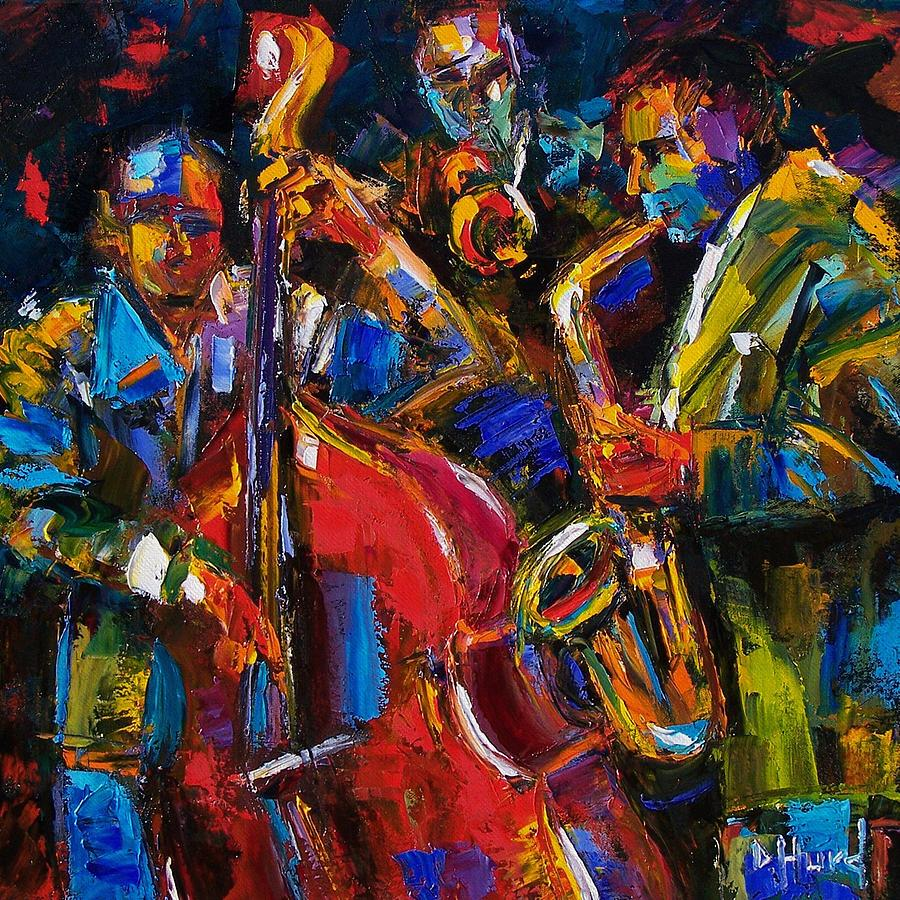 Mardi Gras Wallpaper For Iphone Jazz Painting By Debra Hurd