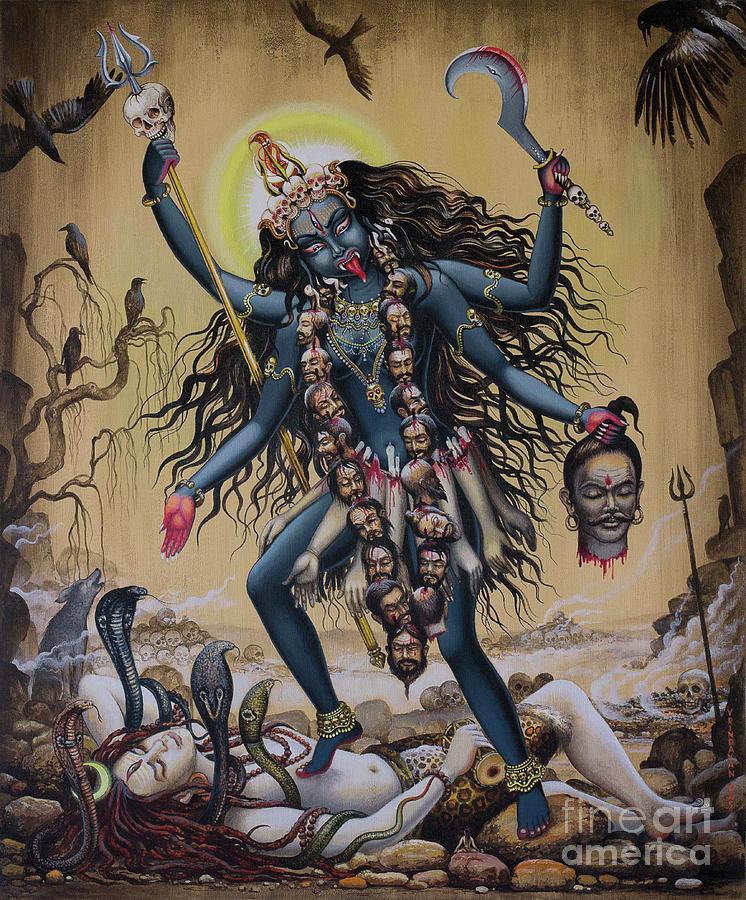 Best Wallpaper App For Iphone Kali Painting By Vrindavan Das