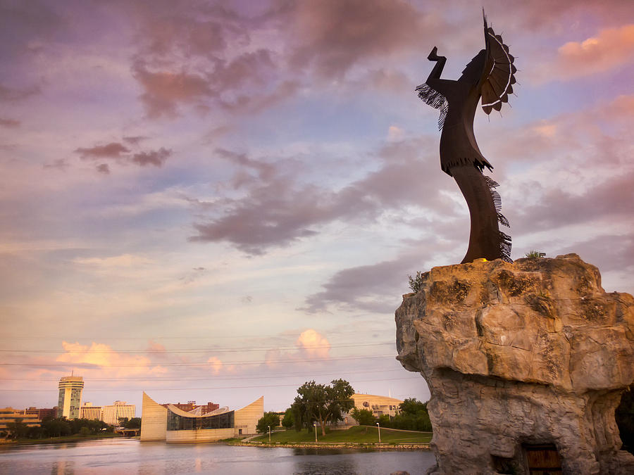 Native American Wallpaper Iphone Keeper Of The Plains At Sunset Photograph By Ricardo Reitmeyer