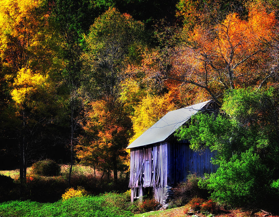 New England Fall Phone Wallpaper Kent Hollow Ii New England Rustic Barn Photograph By