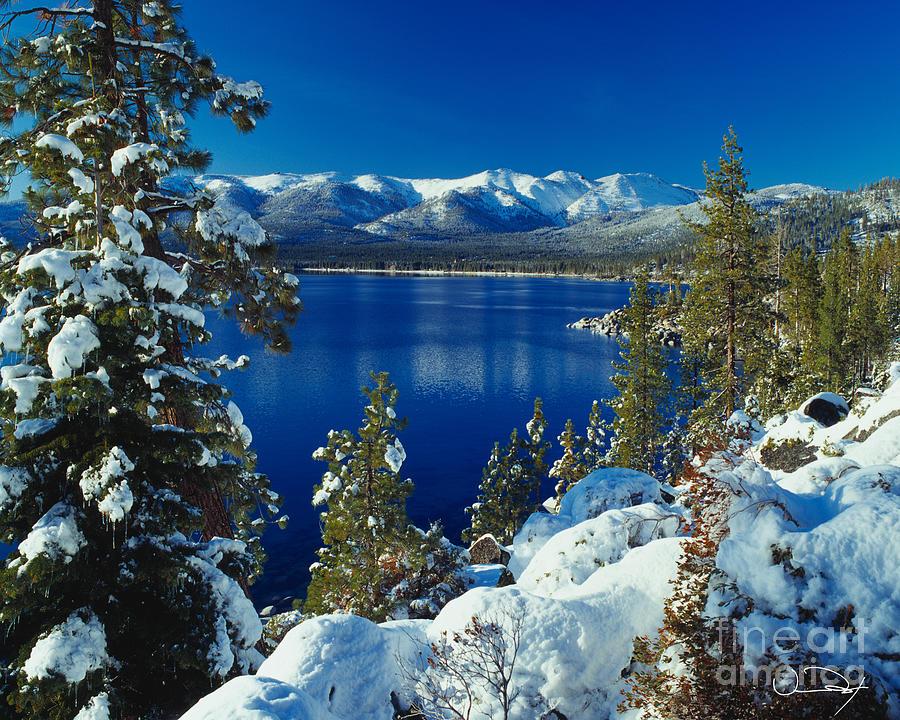 Hd Lavender Wallpaper Lake Tahoe Winter Photograph By Vance Fox