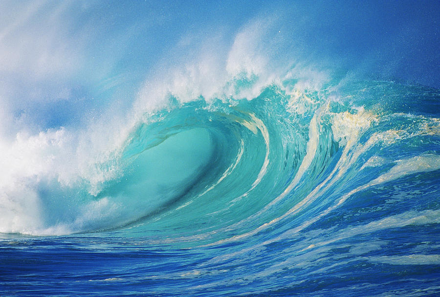 Tropical Ocean 3d Live Wallpaper Large Wave Curling Photograph By Ron Dahlquist Printscapes