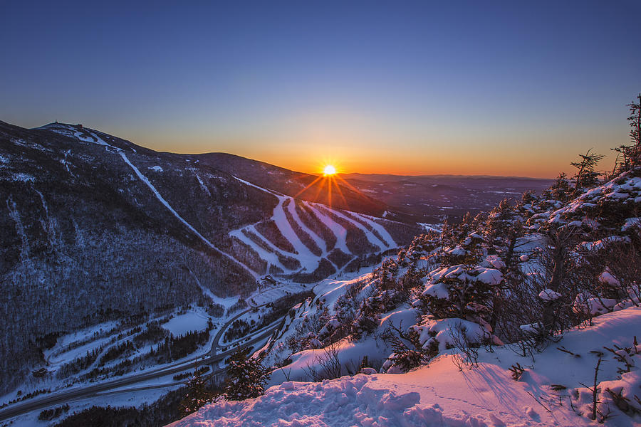 Hd Motivational Wallpapers For Android Last Winter Sunset Over Cannon Mountain Photograph By