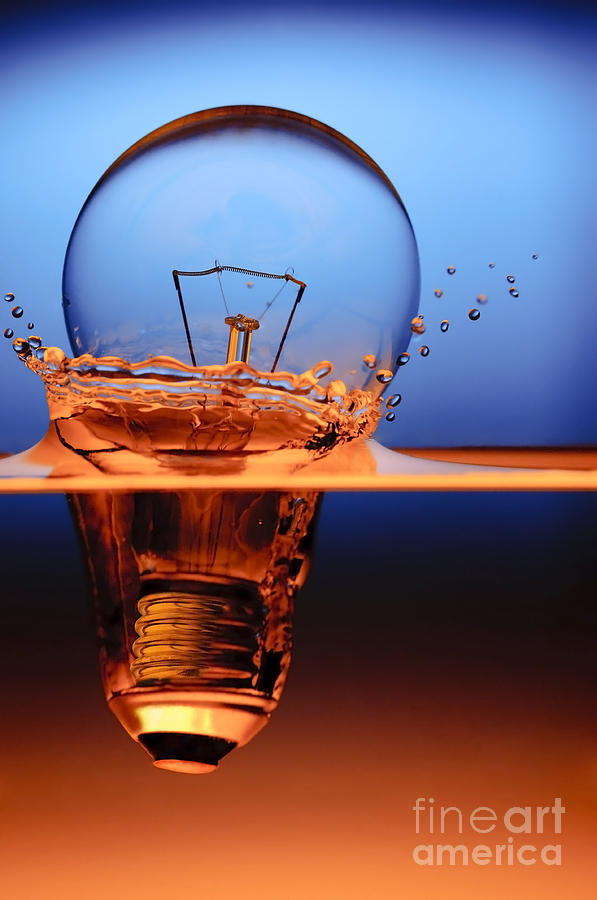 Chargers Iphone Wallpaper Light Bulb And Splash Water Photograph By Setsiri