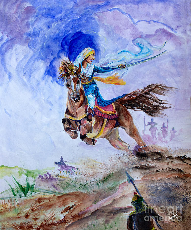 Sikh Wallpapers Hd For Iphone 5 Mai Bhago Painting By Sarabjit Singh