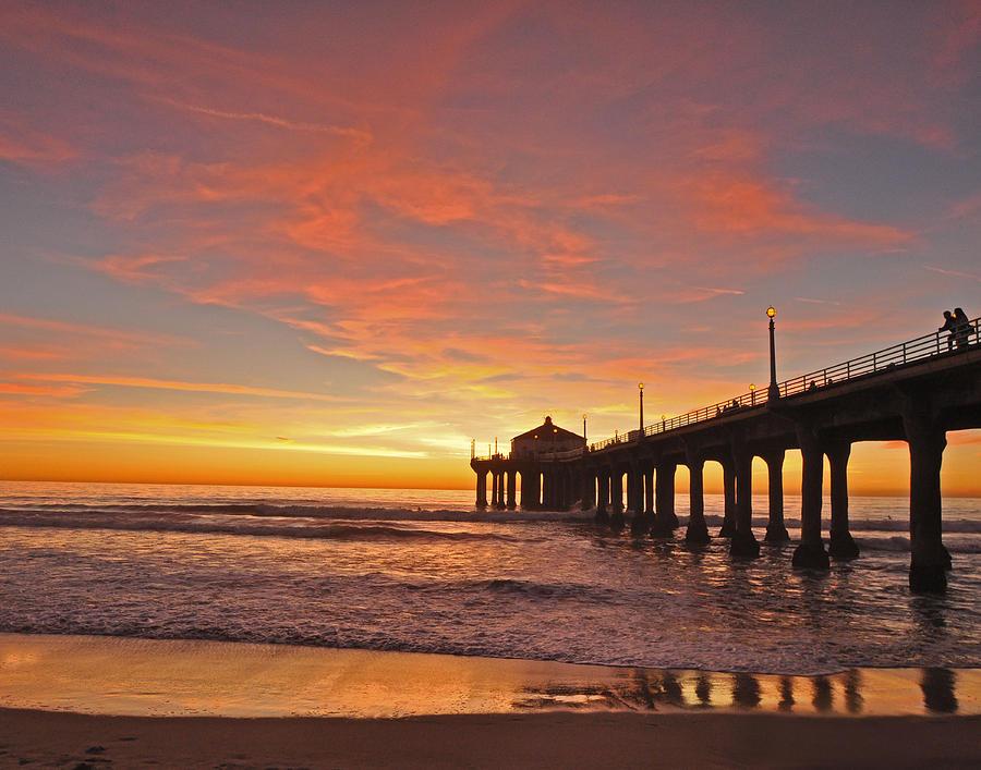 Fall Cape Cod Wallpaper Manhattan Beach Sunset Photograph By Matt Macmillan