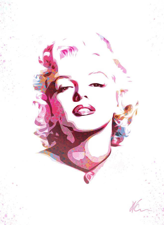 Girl Baby Shower Wallpaper Marilyn Monroe Watercolor Pop Art Digital Art