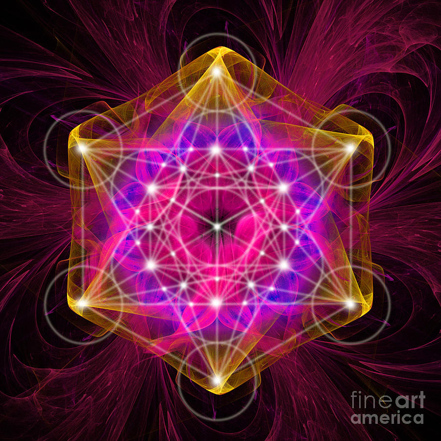 Free 3d Wallpaper Apps Metatron S Cube With Flower Of Life Digital Art By Alexa