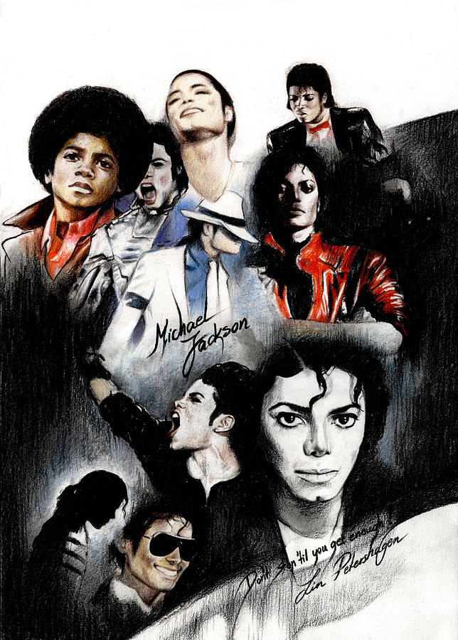 Iphone Wallpaper Michael Jackson Michael Jackson King Of Pop Drawing By Lin Petershagen
