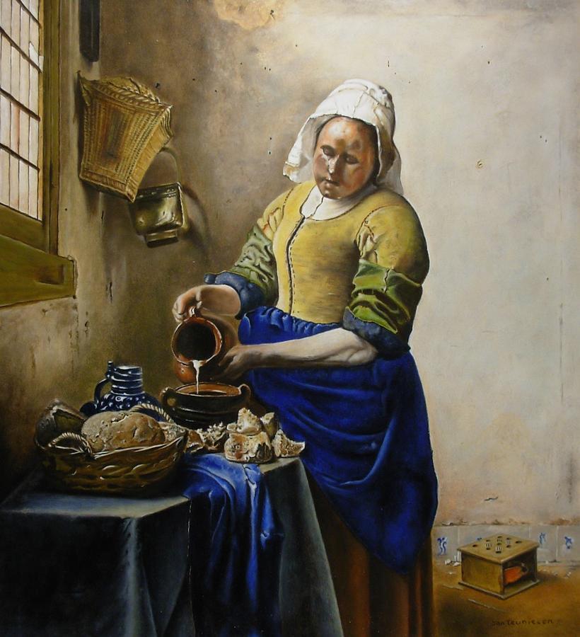 Inside Iphone X Wallpaper Milkmaid Acc Johannes Vermeer Painting By Jan Teunissen