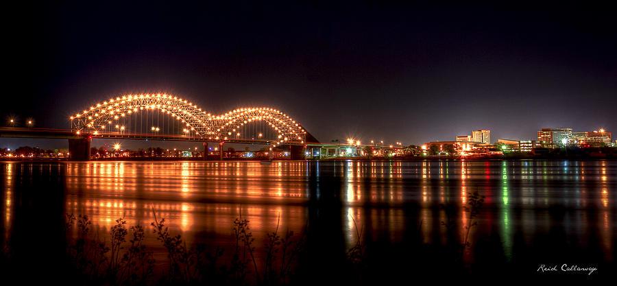 Mississippi Reflections De Soto Or M Bridge Memphis Tn