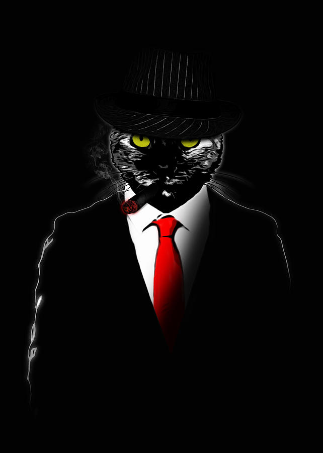 Gas Mask Wallpaper For Iphone Mobster Cat Digital Art By Nicklas Gustafsson