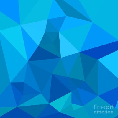 Moonstone Blue Abstract Low Polygon Background Digital Art by Aloysius Patrimonio