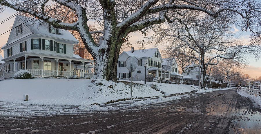 Falling Snow Live Wallpaper For Iphone Mystic Houses In Winter Photograph By Kirkodd Photography