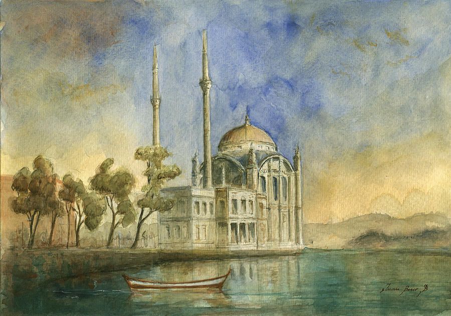 Ortakoy Mosque Istanbul Painting By Juan Bosco