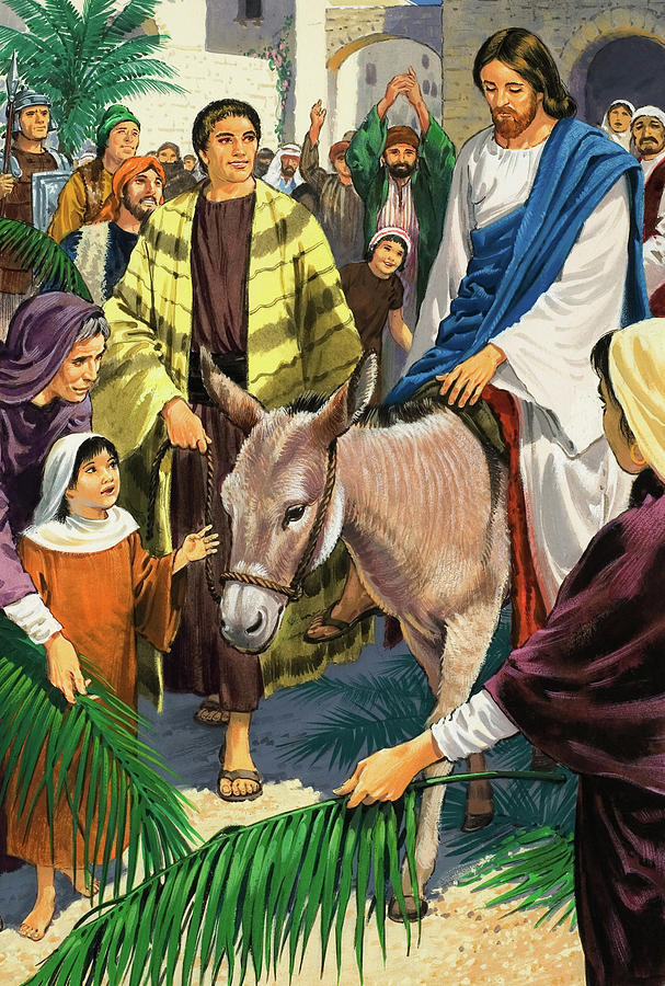 Jesus Last Supper Hd Wallpaper Palm Sunday Painting By Clive Uptton