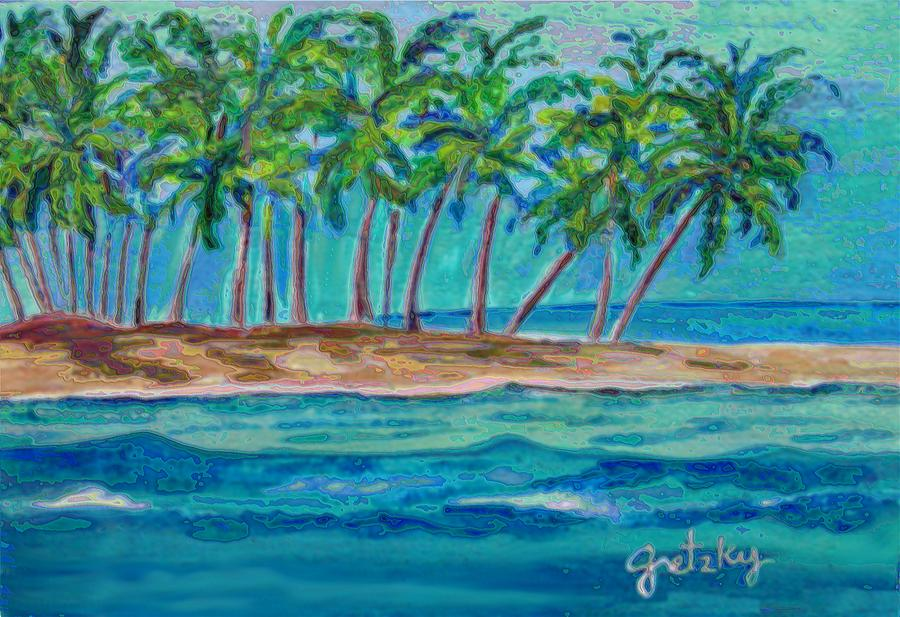 Palm Tree Island Painting By Paintings By Gretzky