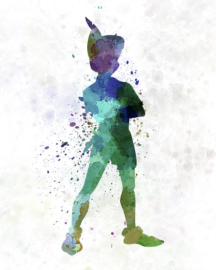 Neverland Quotes Wallpaper Peter Pan In Watercolor Painting By Pablo Romero
