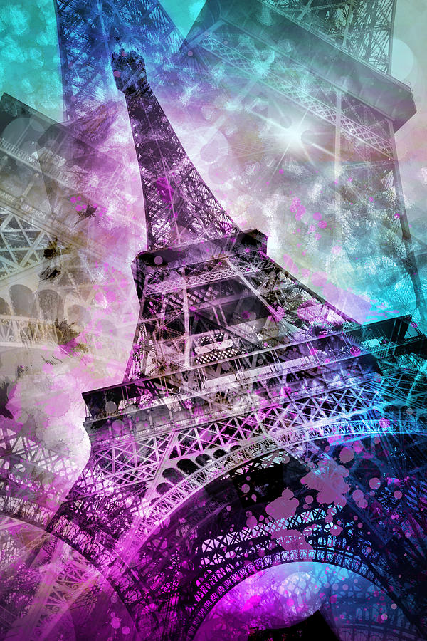 Icon Wallpaper Iphone 5 Pop Art Eiffel Tower Photograph By Melanie Viola