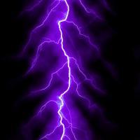 Purple Lightning Bolt Digital Art by Juergen Faelchle
