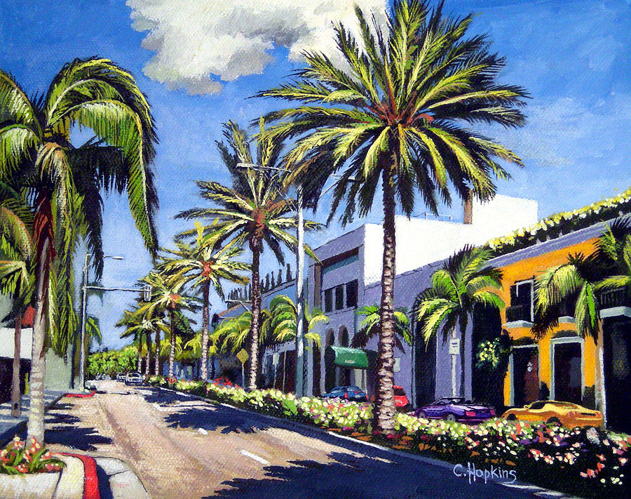 Rodeo Drive Beverly Hills California Painting By