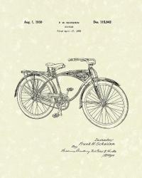 Schwinn Bicycle 1939 Patent Art Drawing by Prior Art Design