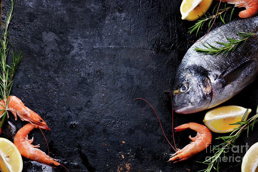 Wallpaper Iphone Black And White Seafood On Black Background Photograph By Jelena Jovanovic