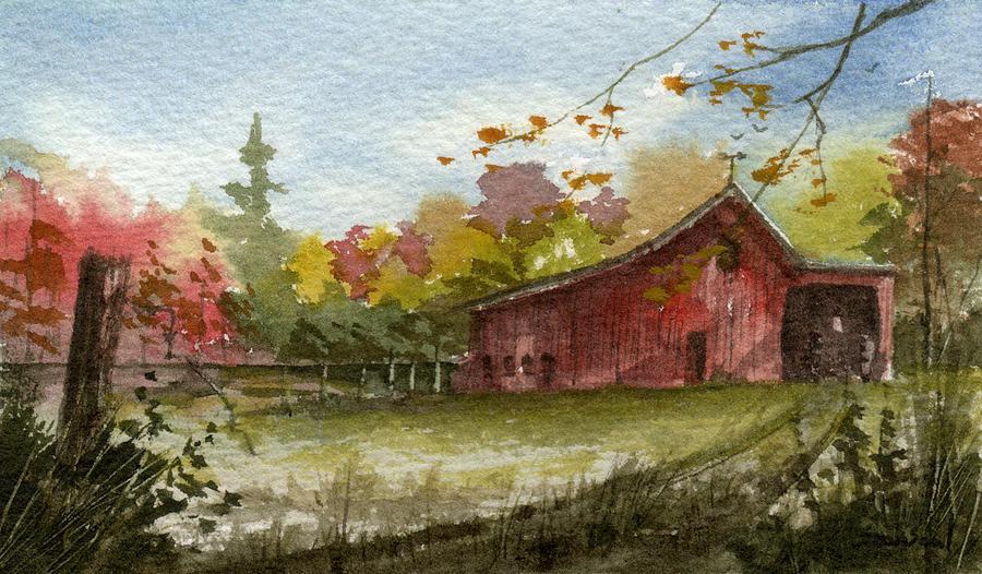 Fall Foliage Iphone Wallpaper Small Fall Barn Painting By Sean Seal