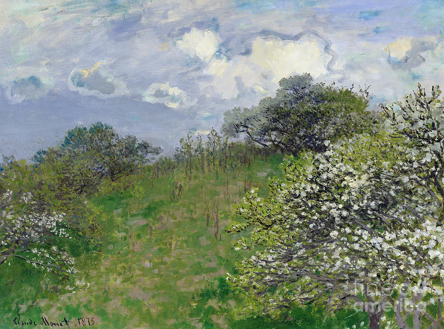 Spring Painting by Claude Monet