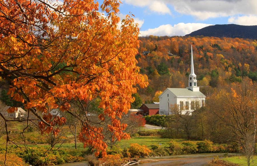4k Central Park In The Fall Wallpaper Stowe Vermont In Autumn Photograph By John Burk