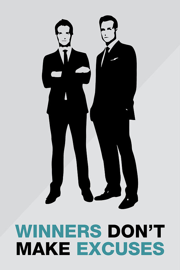Harvey Specter Quotes Wallpaper Iphone Suits Tv Show Poster Harvey Quote Winners Don T Make