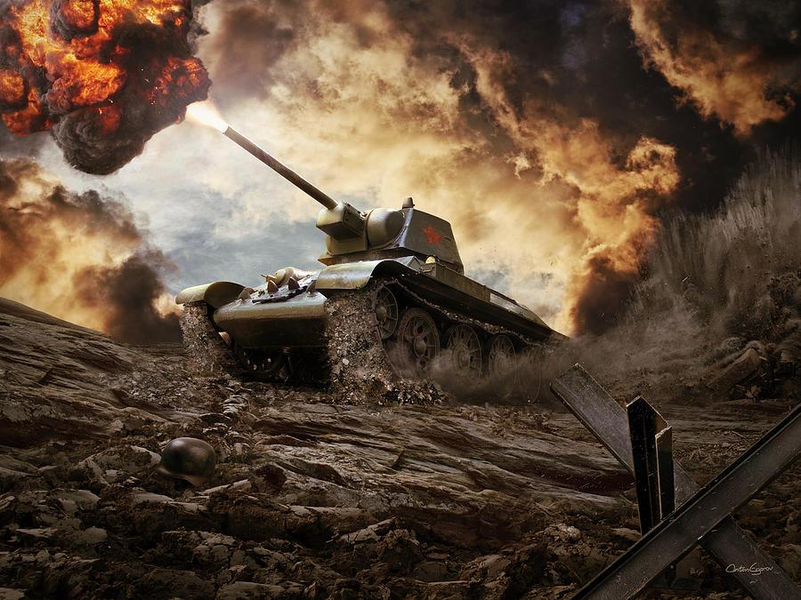 Tank Girl Wallpaper Android T 34 Soviet Medium Tank Wwii Digital Art By Anton Egorov