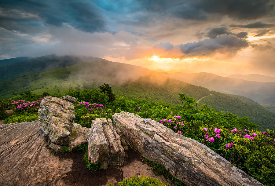 Happy Fall Wallpaper Iphone Tennessee Appalachian Mountains Sunset Scenic Landscape
